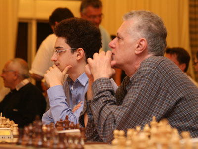 Fabiano and Lou Caruana