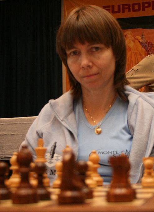 GM Pia Cramling playing on the first board of Cercle Èchecs de Monte Carlo
