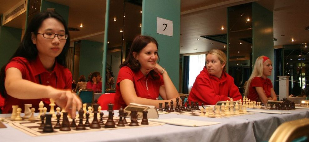 EPAM was one of the two teams scoring a perfect win with Trang, Zatonskih, Atalık and Sharevich (from left to right).